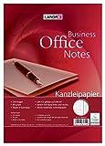 LANDRE 100050625 Kanzleipapier Office 250 Kanzleibogen kariert mit Doppelrand 80 g/m² holzfreies Papier - Ideal für Schule und Büro