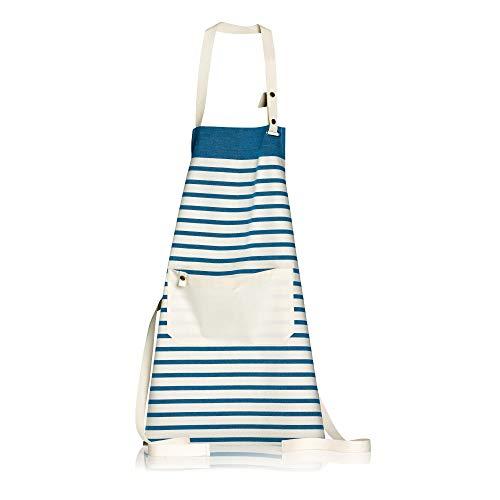 Winkler - Tablier de cuisine Nalou – Blouse lavable 100% coton – Poche centrale - Sangle ajustable – Motif imprimé coloré