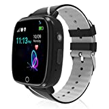 Kids Smart Watch,Children GPS Smartwatches with Call Voice Chat SOS Alarm Clock Camera Smart Watch for Children 4-12 Years Old Compatible with iOS \/ Android,Christmas Birthday Gifts for Kids (Black)