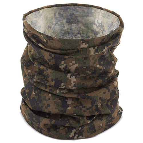 FUN FAN LINE - Packung x3 Halstuch Multifunktionstuch in einer Farbe Ihrer Wahl. Schützende Gesichtsmaske, Halshöschen oder Kopftuch. (Militär)