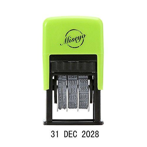 Miseyo, timbro con data autoinchiostrante, inclusi 2 tamponi di inchiostro di ricambio - Inchiostro nero