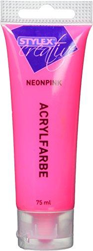 Stylex Acrylfarbe, Baumwolle, neonpink, 3.3x3.3x15 cm
