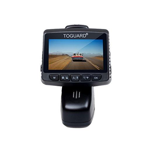 TOGUARD Dashcam WiFi, Full HD 1080P Auto Kamera mit 170° Weitwinkelobjektiv,WLAN Unauffällige Fahrzeug DVR Rekorder, Bewegliches Objektiv, G-Sensor, Loop Aufnahme, Parkmonitor,Nachtsicht und G-Sensor