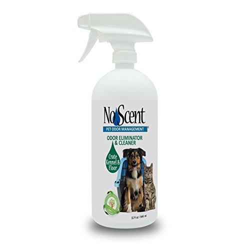 No Scent Crate Kennel & Floor - Professional Dog & Pet Urine Feces Odor Eliminator & Cleaner - Safe All Natural Probiotic & Enzyme Formula Smell Remover for Hardwood Concrete Tile Plastic (32 oz)