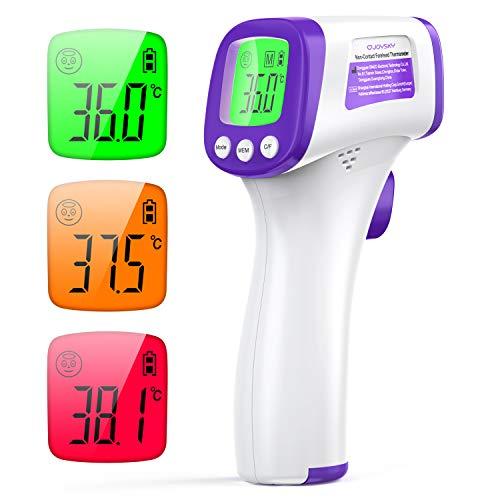 Infrarot Thermometer Kontaktlos Stirnthermometer gegen Fieber JOYSKY Medical Digital Thermometer Geeignet für den Innen- und Außenbereich von Babys und Erwachsenen mit sofortiger Ablesung