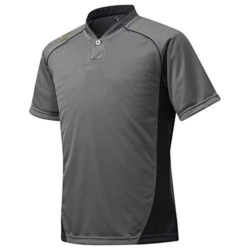 ミズノ(MIZUNO) グローバルエリート ベースボールシャツ・小衿・ハーフボタン 12JC6L11 05 チャコールグレー/ブラック 2XO