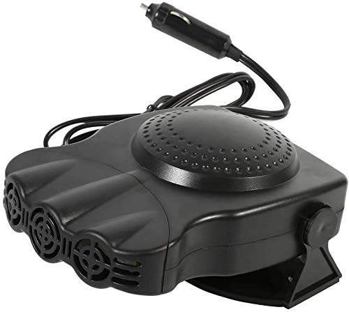 Car Heater Fan Black,Anti-Fog Car Fan Defroster Automobile Heater Warmer and Defroster Heating Cooling Function Windshield Demister Defroster