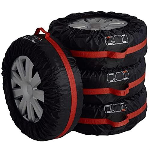 Funda Protectora Para NeumáTicos,Fundas De Rueda 4pcs Cubierta de neumáticos de repuesto Caja de los neumáticos de poliéster Bolsas de almacenamiento de neumáticos de automóviles Accesorios de neumáti
