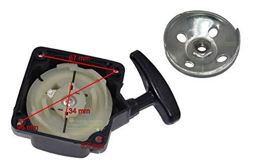 Arrancador de cable + empujador para desbrozadora de 43 cc – 52 ccm