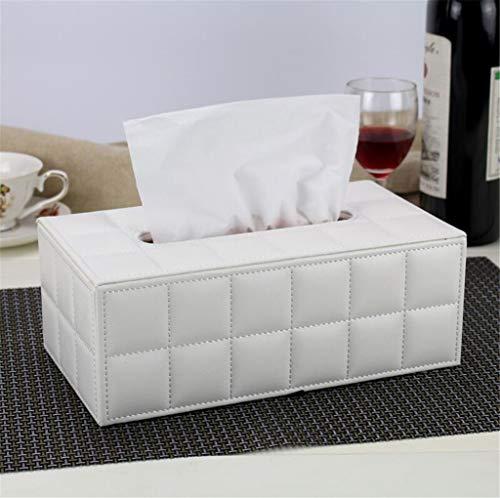 MYMAO 001Lederen tissue box Napkin tray opbergdoos papier handdoek buis Papier buis kantoor salontafel eenvoudige en mooie creatieve auto thuis