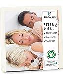 Lenzuolo di cotone pregiato con angoli 60x120 cm ALBA I 100% cotone I Certificato Oekotex ...