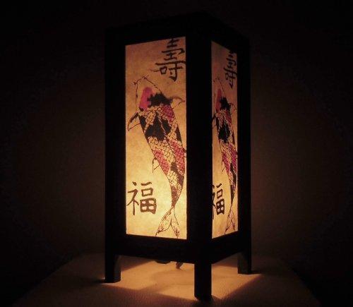 Seltene Asiatische Orientalisch Vintage Möbel Thai handgefertigt Buddha Stil Lampe Nachttische Koi Fisch Zuhause Schlafzimmer Dekor Wohnkultur In Thailand