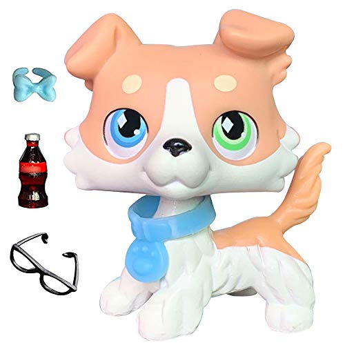 Judylovelps Collie Vanilla, Tan ans White Collie with Different Eyes Green and Blue Eyes Collectable Figures