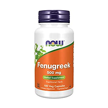 NOW Supplements Fenugreek  Trigonella Foenum-Graecum  500 mg Herbal Supplement 100 Veg Capsules