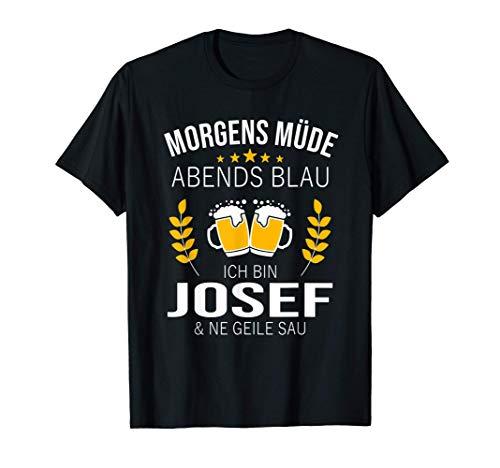 Herren Josef Vorname Geschenk Geburtstag Lustiges Bier Sprüche T-Shirt