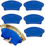 Yesland 6 Pcs Hands Free Playing Card Holders & Playing Card Trays for Bridge Canasta Strategy Card Playing (Blue)