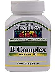 21st Century B-Complex with C Caplets - 100 Capsules