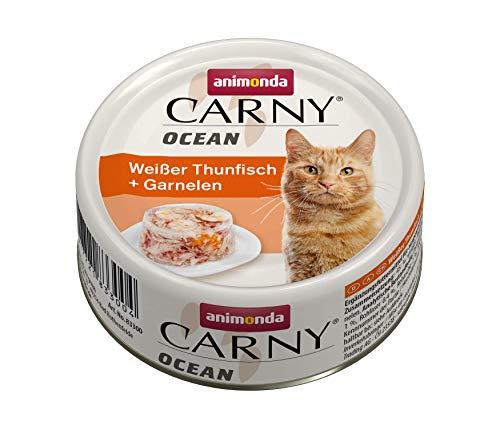 animonda Carny OceanKatzenfutter, Nassfutter für Katzen, Weißer Thunfisch + Rind, 12 x 80 g