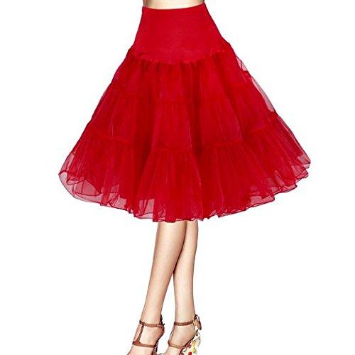 Rosa Nero Blu Bianco Boolavard 50s 1950 18 Rockabilly Petticoat Sottogonna Gonna Retro Annata Altalena Rosso