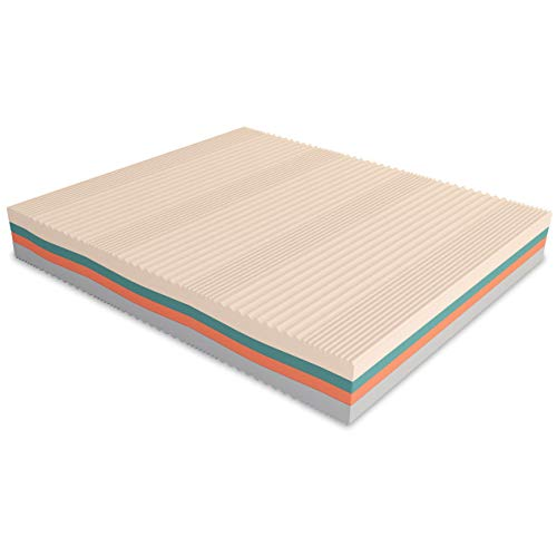 Baldiflex Materasso Matrimoniale Memory Foam 3 Strati Arcobaleno Plus 160 x 190 cm, Fodera Sfoderabile Silver Safe
