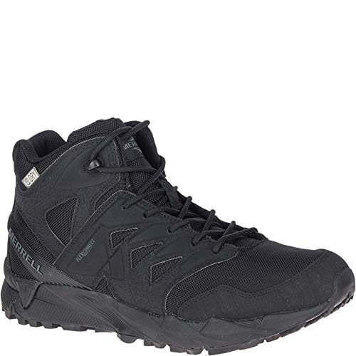 Merrell Unisex Work Agility Peak Mid Tactical Waterproof Shoes, Black, 9.5