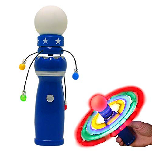 Hand-Held LED Light Up Galaxy Spinner with Flashing LED Lights