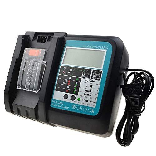 Ersatz 18V Ladegerät für Makita Lithium-Ionen Akku mit LED Indikator Multifunktion USB Schnell-Ladegerät
