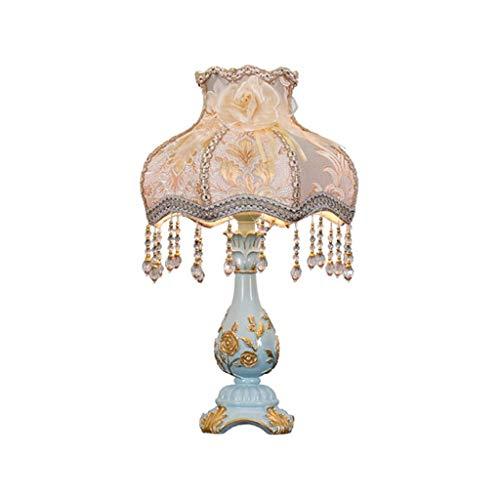 ZHIJINGKEJI Moderna de la resina con el azul lámpara de mesa de florero pétalo de arpillera, for el dormitorio de la familia del dormitorio sala de oficina