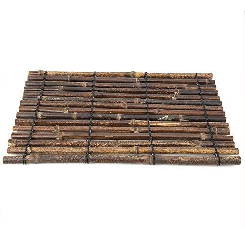 Handcraft - Juego de mesa de té de bambú natural negro de...
