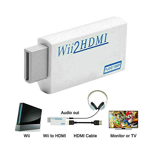 Metermall Electronics For Portable Wii to HDMI Wii2HDMI Full HD Converter Audio Output Adapter for TV