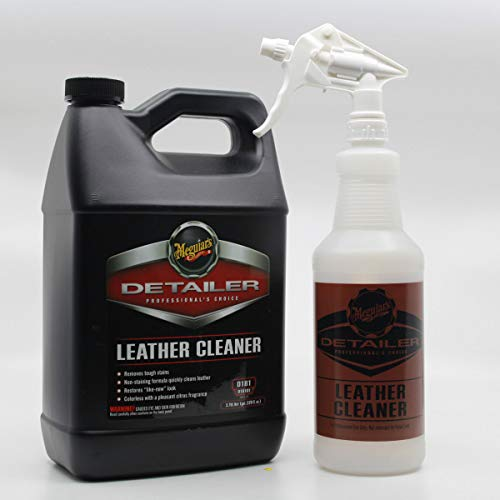 PBMG Meguiars D181 Leather Cleaner 1 Gallon with Spray Bottle and Sprayer