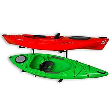 Stoneman Sports Kayak and Canoe Freestanding Storage Rack | Indoor-Outdoor Boat Stand