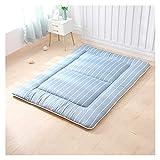 Aralinda Alfombrilla gruesa de Tatami, plegable de futón japonés, suave, lavable, colchón acolchado (color: azul, tamaño:...