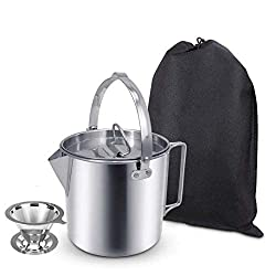 AITREASURE Stainless Steel Camping Tea Kettle