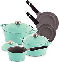Chef Manal Al Alem Kitchen Carat Cookware Set of 8 - Emerald