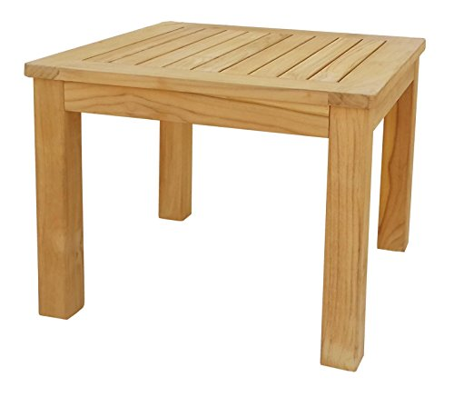 GRASEKAMP kwaliteit sinds 1972 teak bijzettafel 50x50 cm koffietafel tuinmeubelen meubels tuintafel kruk salontafel