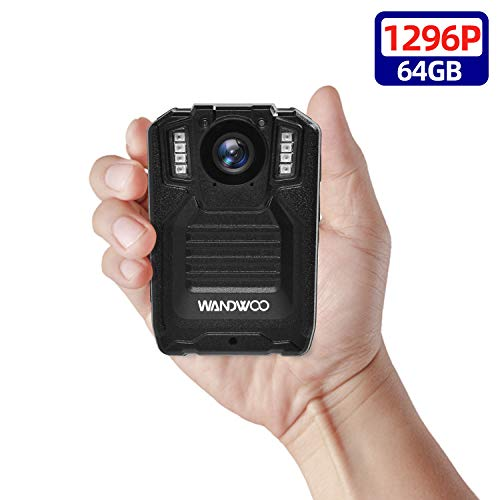 Best Price 1296P Body Worn Camera for Police, Wandwoo Police Body Camera with 64GB Memory Infrared N...