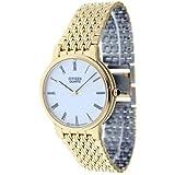 Citizen Ac-7701-57a Reloj Analogico Unisex Caja De Acero Inoxidable Esfera Color Blanco