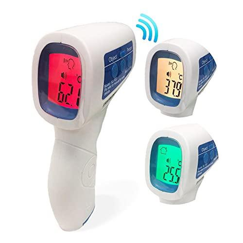 Termometri a Infrarossi per Febbre, Termometro Febbre Digitale Adulti, Termometri a Distanza per Febbre, Termometro Laser Febbre Termometro Febbre Neonato, Pistola Misura Temperatura