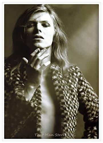 Rocksänger David Bowie Poster Klar Druck Malerei Bild Wandkunst Schlafzimmer Wohnkultur Moderne Kunst Wandaufkleber 30X20 Cm Hellgrau