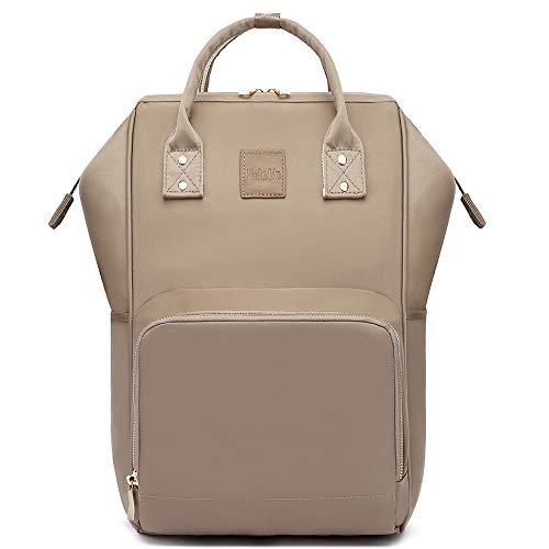 Diaper Bag, HaloVa Travel Backpack, Multi-Function Family Baby Bag for Women Men, Khaki