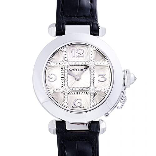 カルティエ Cartier パシャ 32 グリッドダイヤ WJ111356 シルバー文字盤 中古 腕時計 レディース (W203377) [並行輸入品]