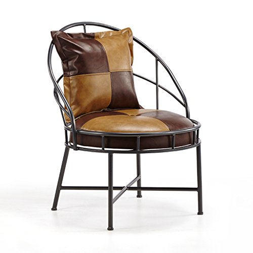 QFF Vintage Bar Chair, Continental Lounge Chair Household PU Armchair Living Room...