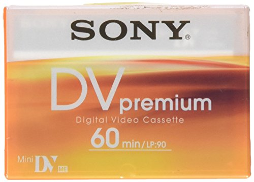 Sony DVM60PR - Cinta de Video Mini DV (LP-90, 60 Minutos en Modo SP, para videocámaras DVC), Azul