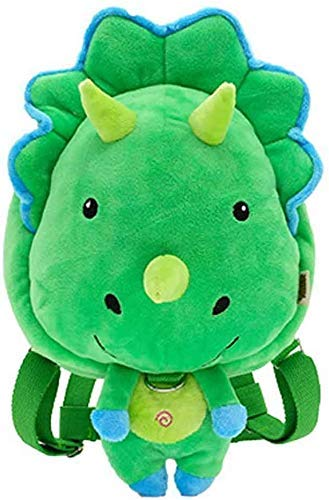 JIANGAA Baby Toddler Safety Harness Backpack Child Kids Cute Cartoon Strap Shoulder Backpack Bag with Reins Leash Rucksack Harness Walkers Tether Belt,for 15 Years Old Toddler (Color : Green)