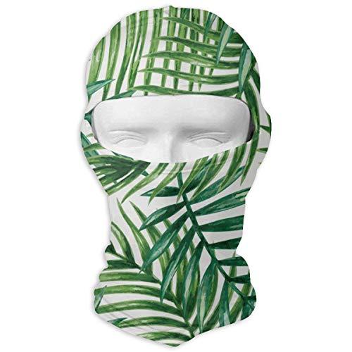ALaze Tropical Palm Leaves Balaclava Full Motorcycle Helmet Liner Respirant Polyvalent Sports de Plein air Wind Proof Dust Head Hood