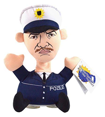 Kögler 75582 - Stoffpuppe Stress - Max Pozilist mit Aufdruck, Figur mit Saugnäpfen an der Unterseite, ideal zum Abbau von Stress, Wut und Aggressionen