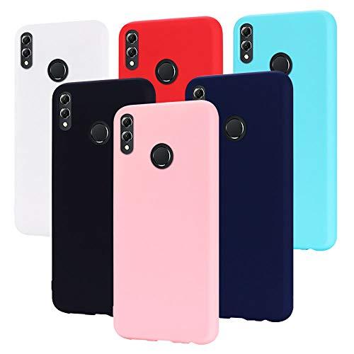 6X Cover Huawei Honor View 10 Lite, CaseLover Ultra Sottile Morbido TPU Silicone Custodia Honor View 10 Lite Satinate Opaco Protezione Copertura Matte Gomma Gel Protettiva Caso Antiscivolo - 6 Colori