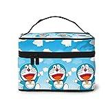 Bolsa de maquillaje, bolsa de maquillaje Doraemon portátil de viaje, bolsa de cosméticos, bolsa grande de malla, organizador de brochas para mujeres y niñas