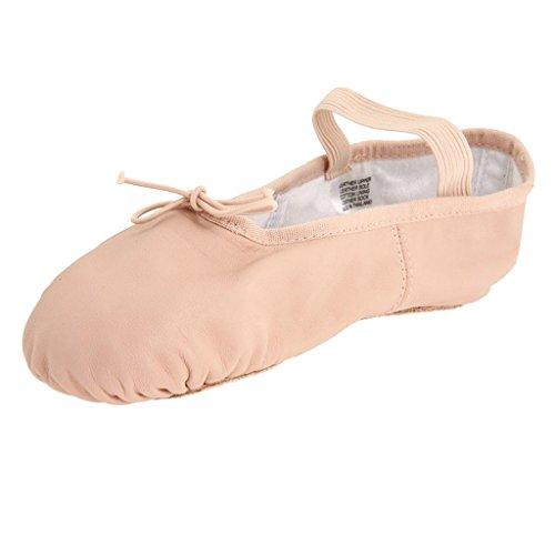 Générique Chaussons de Ballet Fille Léger Demi-Pointes en Cuir Ballerine Femme Rose Clair - Rose, 39